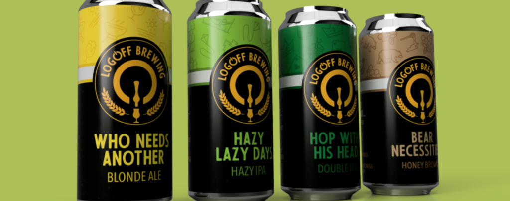 LogOff Brewing Cans